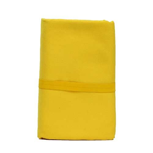 Large Microfibre Bath Towel in Yellow Colour